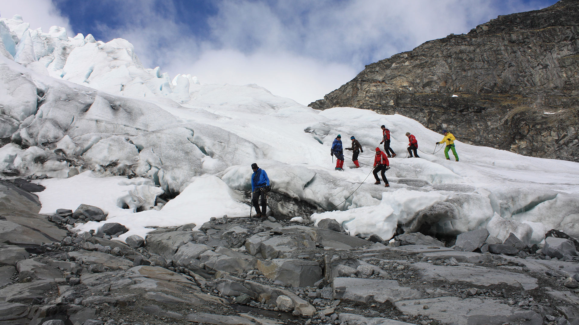 Wandern auf Gletschern